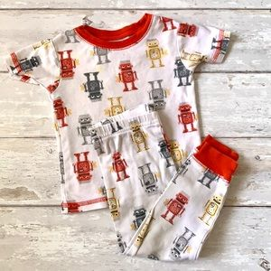 Boys 2T Carters Robot Pajama Set Red White